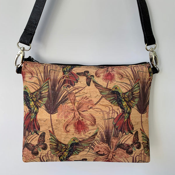 LIMITED Edition Cork Petite Clutch/Shoulder Bag - Hummingbird *MADE TO ORDER