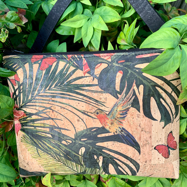 LIMITED Edition Cork Petite Clutch/Shoulder Bag - Floriana *MADE TO ORDER