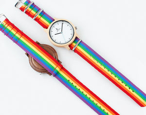 Bamboo & Quartz Pride Watch