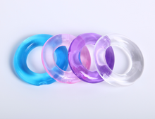 4 Multi-Colored Cock Rings