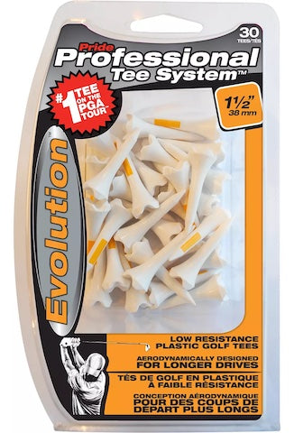 Professional Evolution Tee System - 30 Count - White/Orange- 1-1/2""