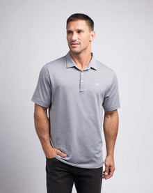 Travis Mathew The Zinna - Grey Pinstripe / White