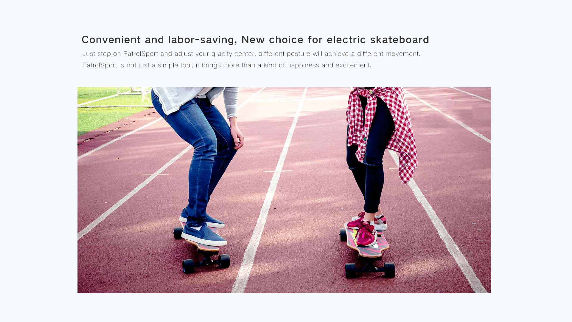 man and woman is riding two skateboards