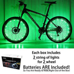 DAWAY Led Bike Wheel Lights - A01 Waterproof Bright Bicycle Light Strip (2 Tire Pack), Safety Spoke Lights, Cool Kids Bike Accessories, Light Up Wheels, Lightweight, Include Battery