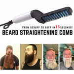 2019 Multifunctional Hair Beard Straightener Comb for Men Quick Electric Hair Straightener Brush Styling Comb Hair Curlers