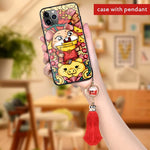 2020 Chinese New Year Zodiac Cute Cartoon Mouse Year of Rat iPhone Case for iPhone X XR XS 11 Pro Max 6 7 8 Plus Protective Back Cover
