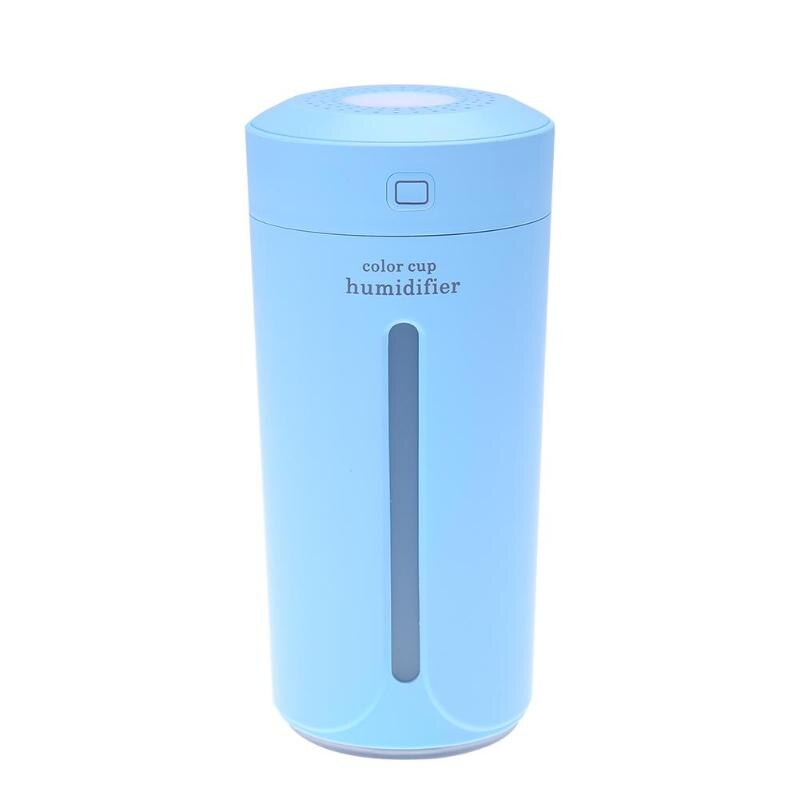 230ml Ultrasonic Air Humidificador Cup Aroma Diffuser Air Purifier USB LED Lights Air Humidificador for Home Car Office