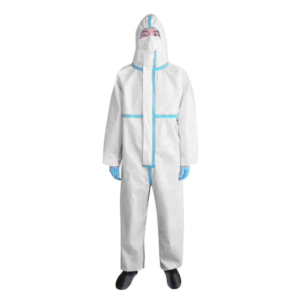 Professional Medical Protective Clothing White Coverall Hazmat Suit Hospital Disposable Anti-Virus Isolation Protective Clothing