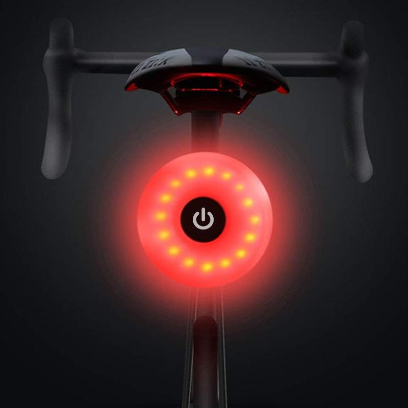 Mini Bicycle Tail Light Bike Rear Light Taillight USB Rechargeable Flashlight Safety Warning Lights Cycling Accessory