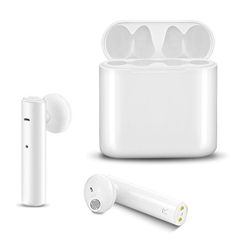True Wireless Earbuds ICEtek Bluetooth in-Ear Earphones with Built-in Mic & Charging Case for Android Phones Devices White Stylish Sweat Proof for Sports TWS Headphones (TWS01) (White)