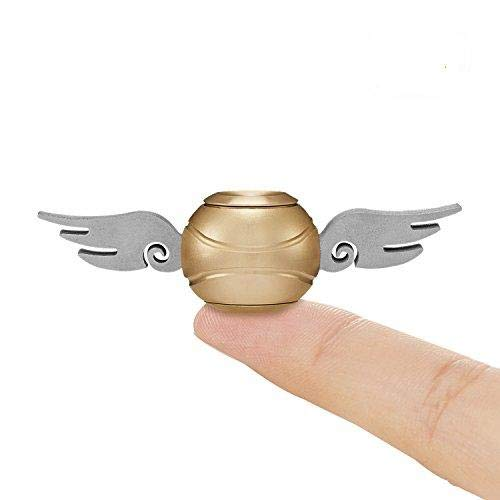 Snitch Fidget Spinner 2PCS, Hand Spinner Toy Time Killer Copper SNITCH Stainless Steel Metal Fidget Toys Fingertip Gyro Relief Cube Toy Gifts For Adults and Kids (Pack of 2)