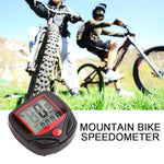 1pc Bike Computer With LCD Digital Display Waterproof Bicycle Odometer Speedometer Cycling Stopwatch Riding Accessories Tool