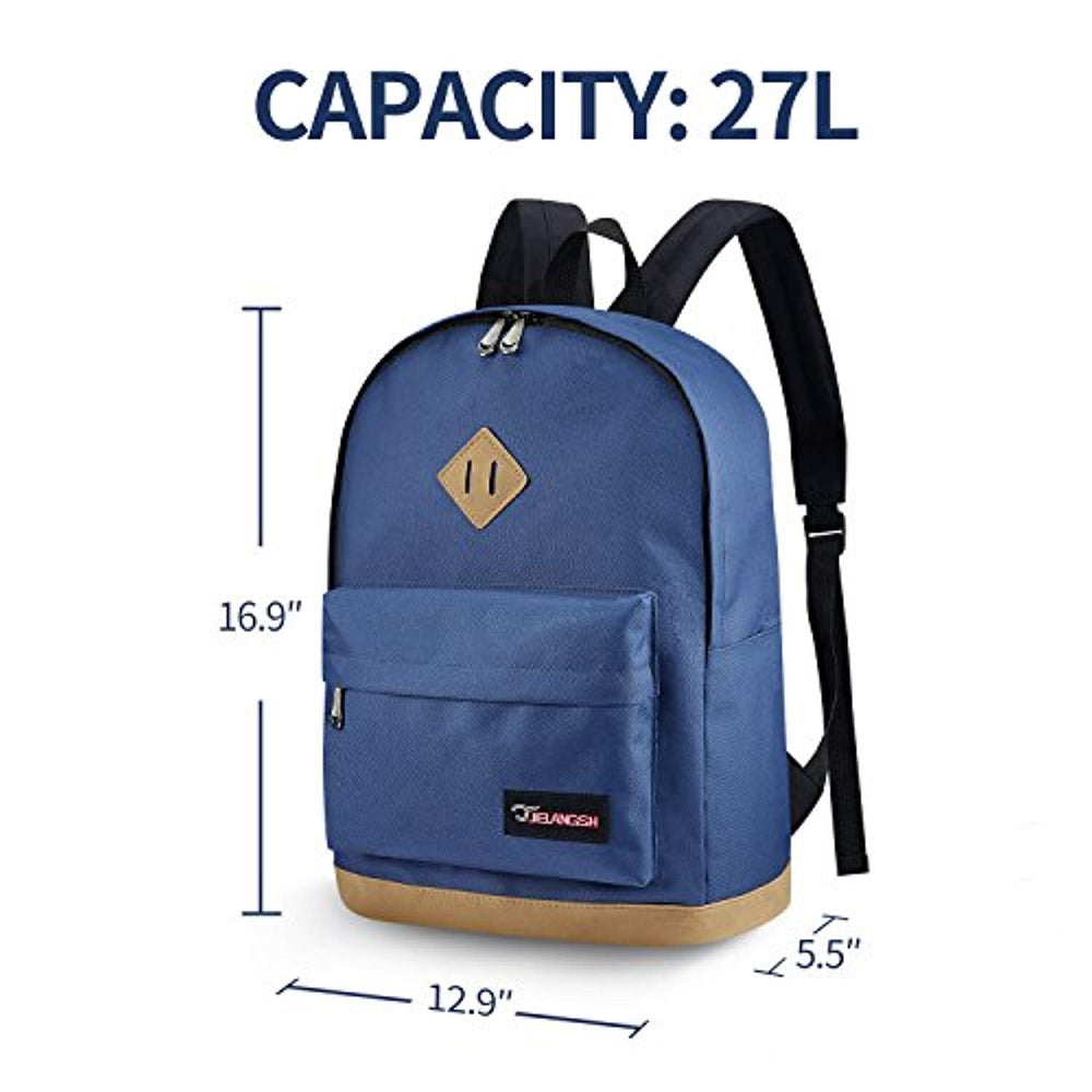 Classic Unisex S.K.L Water Resistant Travel Rucksack Lightweight Casual College Laptop Backpack