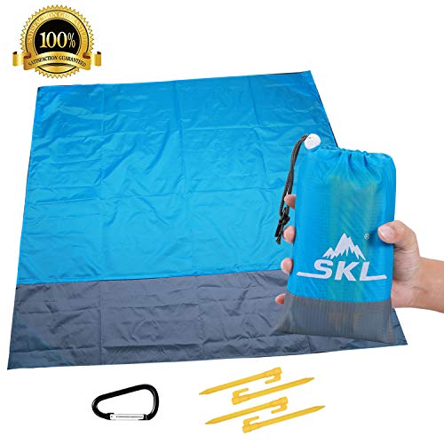 Sand Prove Beach Blanket Outdoor Beach Blanket Waterproof Pocket Blanket