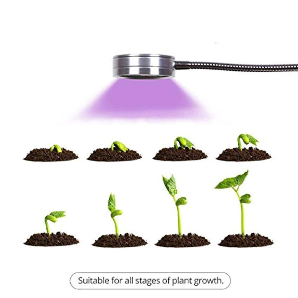Leadpo LED Grow Lamp, LED Plant Growing Lamps with Flexible Gooseneck, Small LED Grow Light 360 Degree for Hydroponics, Indoor Garden Greenhouse, Horticulture, Succulent Plant, Flower, Bonsai (7W)
