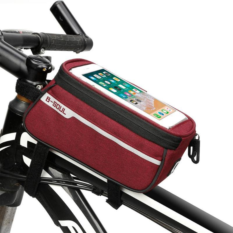 Waterproof MTB Road Bike Bicycle Front Bag Cycling Top Tube Frame Handlebar Bag 6.0 inch Cycling Cellphone Bag