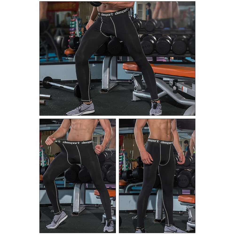 Pikewear Men Compression Pants Gym Fitness Sports Leggings Quick-drying Jogging Pants