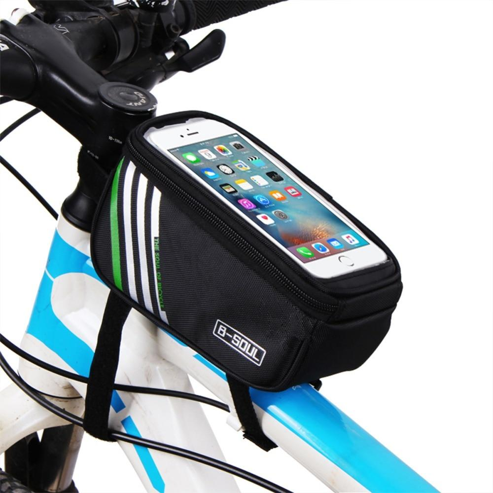 1.5L/ 5.5 Inch Waterproof Touch Screen Bicycle Bags Cycling Bike Front Frame Bag Tube Pouch Mobile Phone Storage Bag