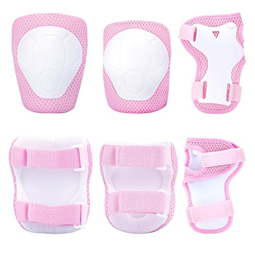 Sports Protective Gear Safety Pad Safeguard (Knee Elbow Wrist) Support Pad Set Equipment  Skateboard Protector Guards Pads