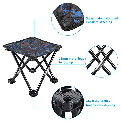 Enjoyable Kuyou Folding Camping Stool Portable Outdoor Fishing Bbq Mini Chair Caraccident5 Cool Chair Designs And Ideas Caraccident5Info