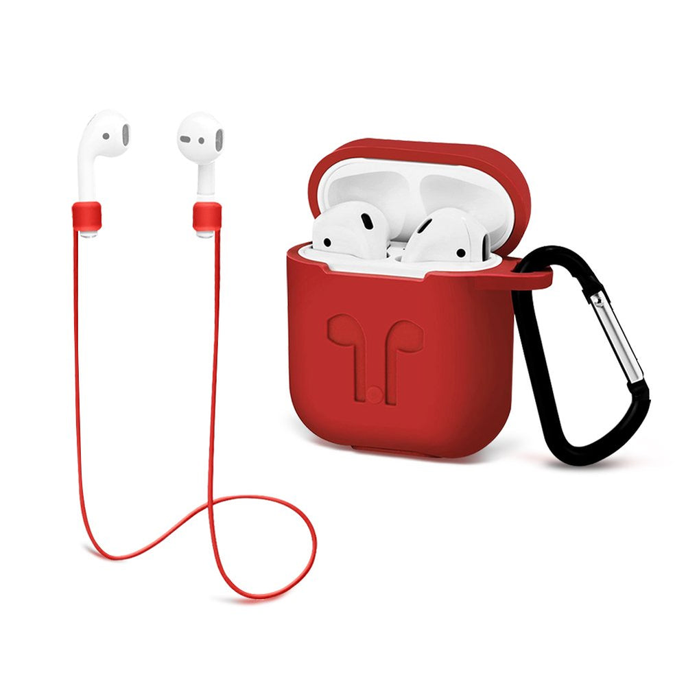 Airpods Protective case with Strap Silicone Cover Keychain Strap