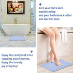 "Non-Slip Bathroom Rug Mats SKL Easy Cleaning Bath Carpet Mat for Tub, Shower, and Bath Room (16"" X 24"", Blue)"