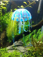 SKL Glowing Effect Soft Silicone Artificial Jellyfish Aquarium Ornament