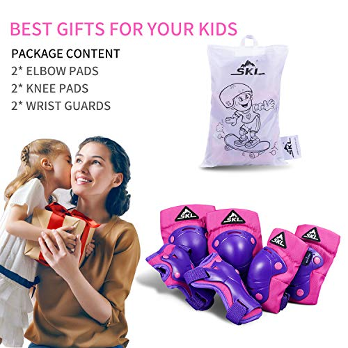 3 in 1 Protective Gear Set for Inline Roller Skating Kids Children Knee Pads Elbow Pads Wrist Guards