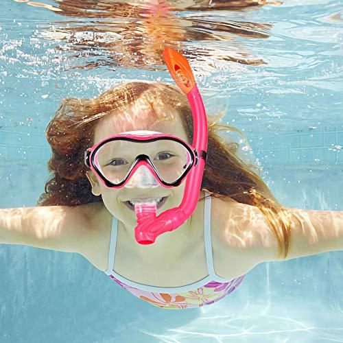Anti-Fog and Anti-Leak Easy Adjustable Snorkeling Gear for Children Snorkel Set for Kids