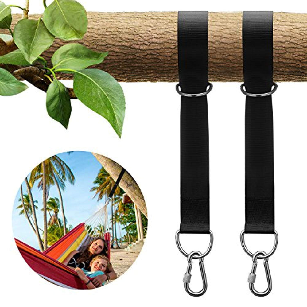 KUYOU Tree Swing Straps Hanging Kit Holds 2200lbs, Outdoor Swing Hangers & Hammock Straps Set (Pack of Two)