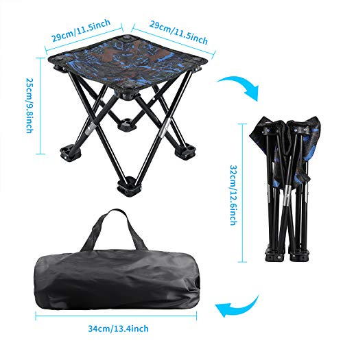 KUYOU Folding Camping Stool Portable Outdoor Fishing BBQ Mini Chair
