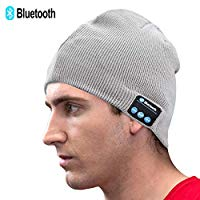 Unisex Knit Bluetooth Beanie Winter Music Hat Black [Upgraded Newest V5.0] Knit Running Cap with Stereo Speakers & Mic Unique Christmas Tech Gifts for Women Mom Her Men Teens Boys Girls