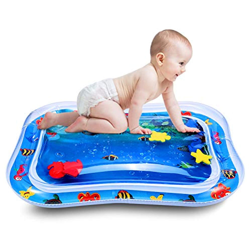 Newborn Baby Toys Perfect for Baby's Stimulation Growth Tummy Time Water Inflatable Baby Water Play Mat Pad BPA Free
