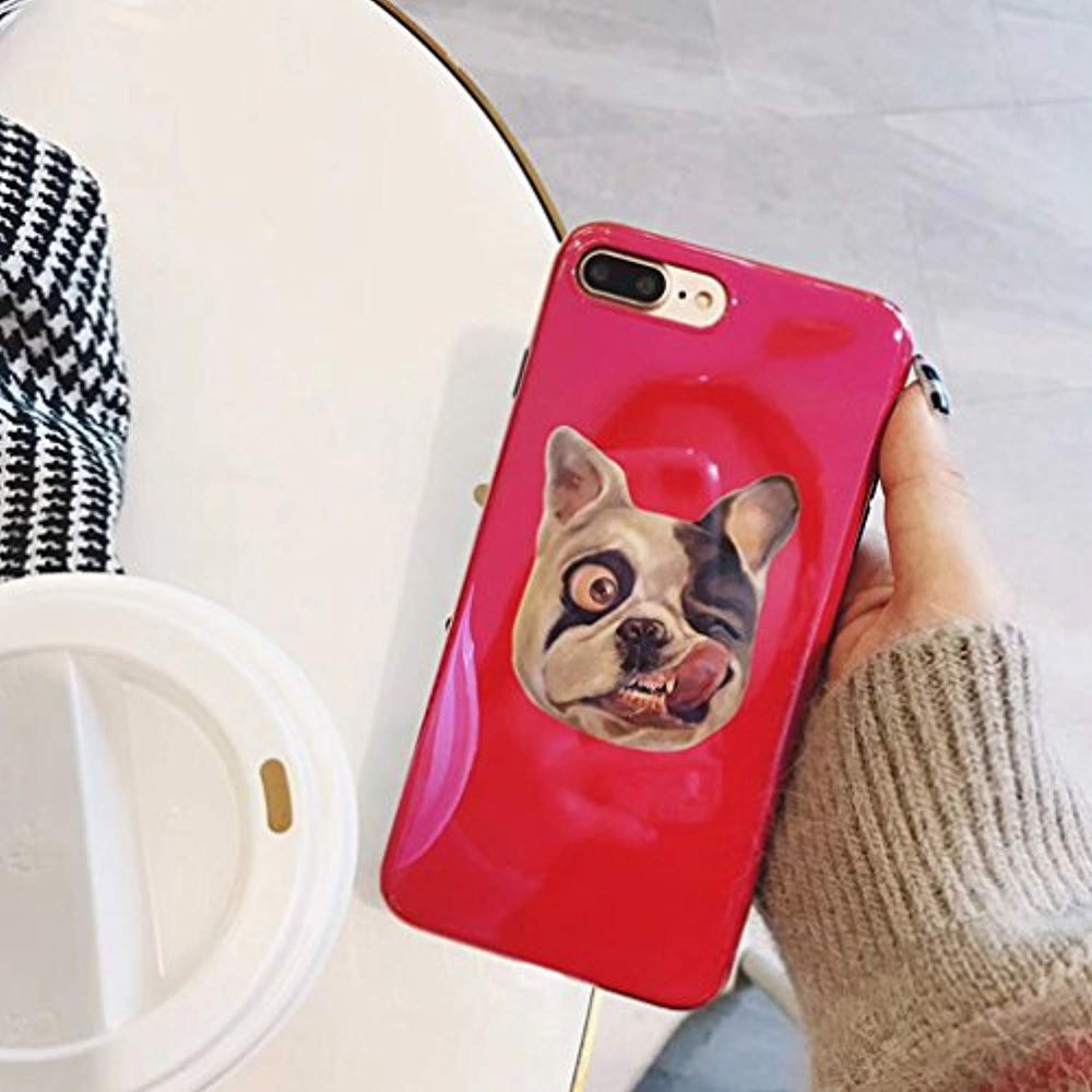 Kuyou Festive red Naughty dog Protect soft shell Protective Cover (for Apple iPhone 6s plus)