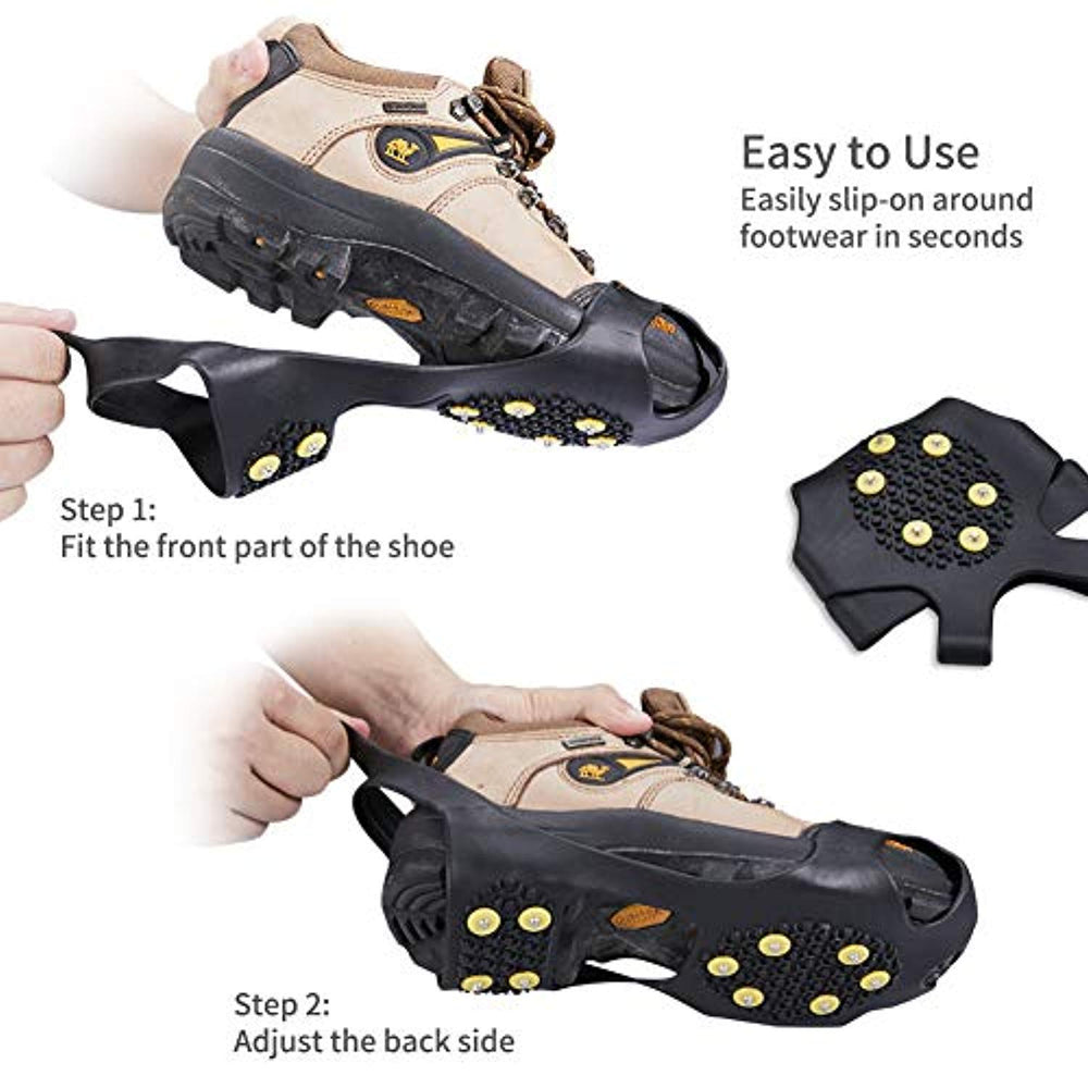 SNOW ANTI SLIP ICE GRIPPERS FOR BOOTS /& SHOES SIZES AVALIABLE