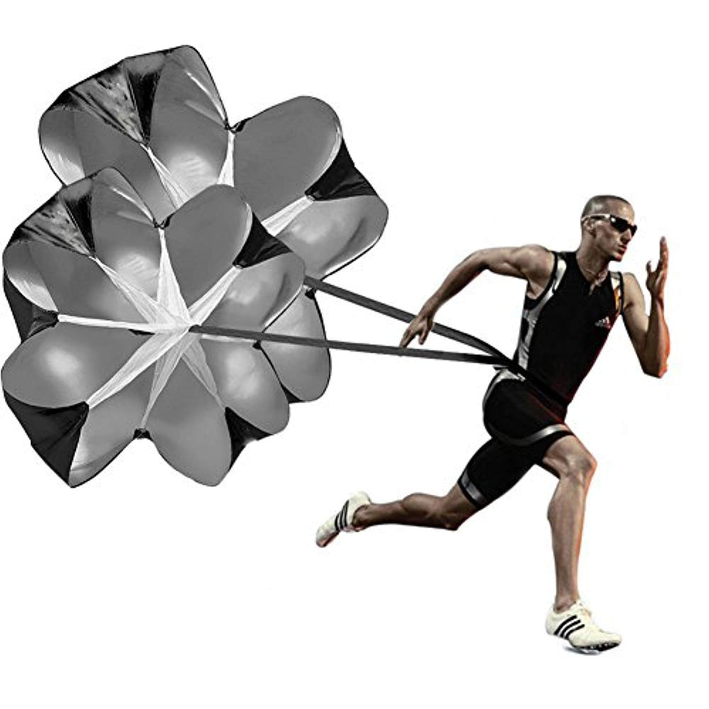 2 Umbrella Speed Chute 56 Inch  Parachute Soccer Training for Weight Bearing  Fitness Core Strength Running Speed Training