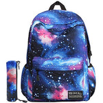 Galaxy School Backpack Travel Bag Unisex School Bag Collection Canvas Backpack