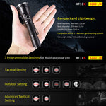 LED Rechargeable USB 3200 Lumens Klarus  Police Flashlight