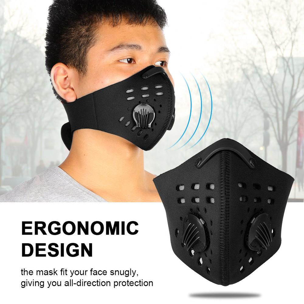 4 Colors Durable Warm Anti Dust Pollution Dustproof Filter Half Face Mask