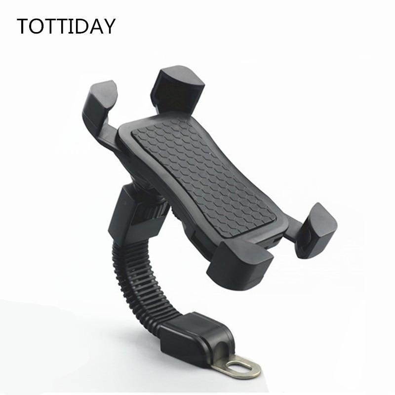 Bicycle Motorcycle Mobile Phone Holder Stand Motorbike rearview mirror Mount Bracket for iphone samsung huawei xiaomi VIVO OPPO