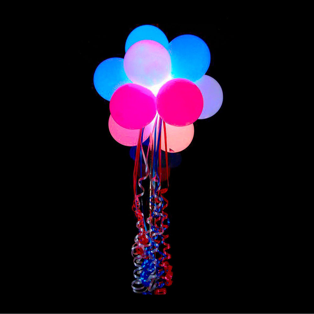 Party LED Balloons Lights 50 Pieces Balloons LED Assorted Colors Luminous Balloons Flashing Light ( Pack of 50 )