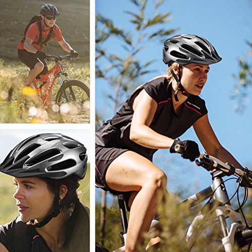 Adult Cycling Bike Helmet with Adjustable Ultralight Stable Road/Mountain Bike MotorCycle Helmets for Mens Womens