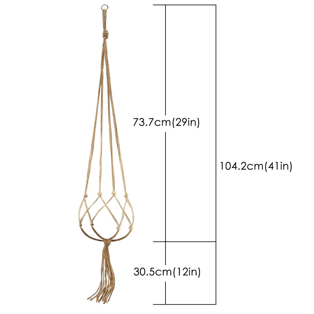 BESTTY Plant hanger Flower Pot Handger Plant Rope Plant Hangers Indoor Outdoor Decorations 48 Inches 4 Pack Large Size Jute Pot Hanger, 4 Legs(4 PACK)