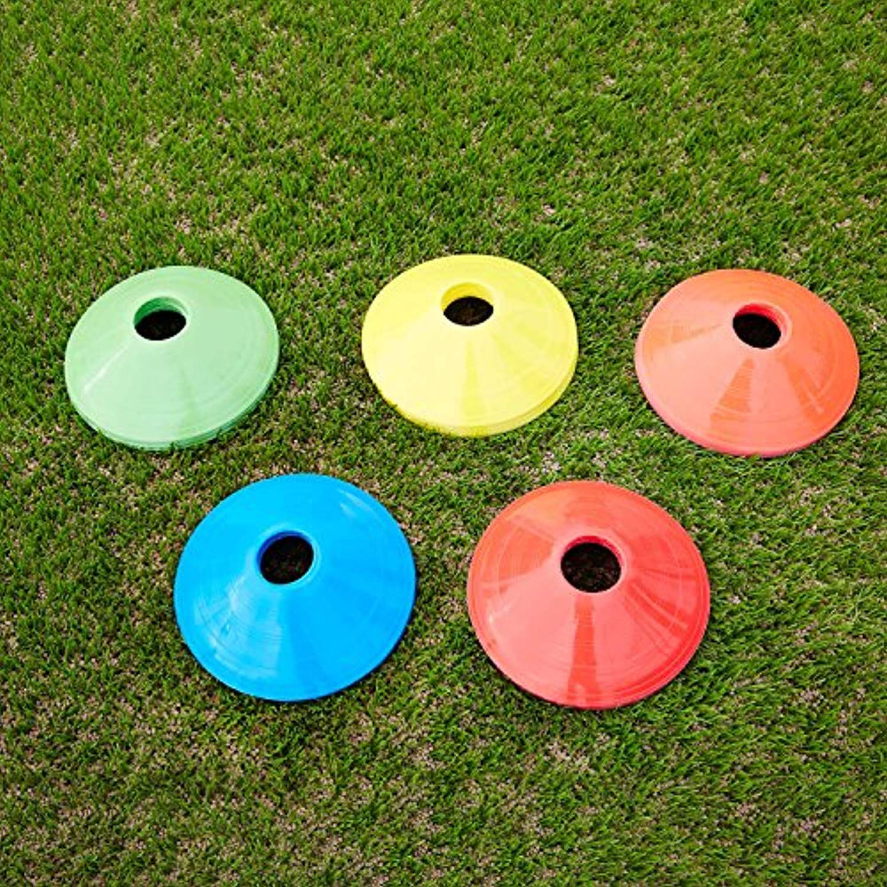 Sport Soccer Disc Cones Sets 50-Pack Agility Disc Cones Perfect for Soccer, Football, Basketball,Footwork,Kids, Field Marker 2 inch