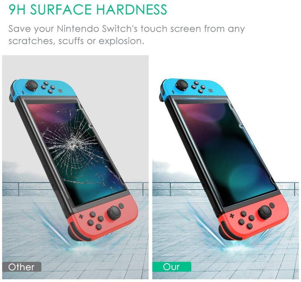 Screen Protector for Nintendo Switch 2017,GIM hd Tempered Glass Screen Saver Protector Switch Guard Screen Protective Filter Film 2 Pack