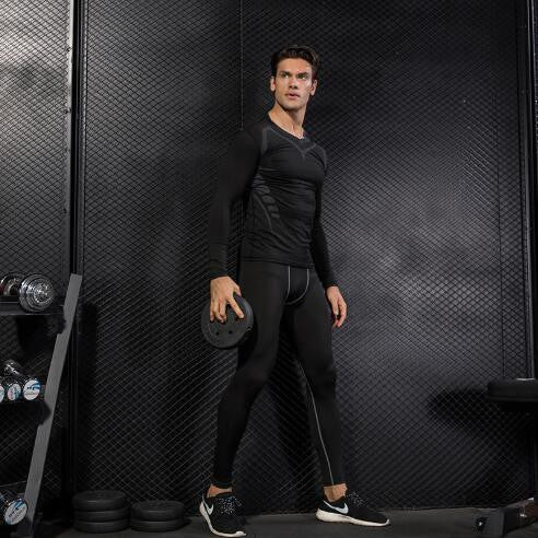 Men Compression Pants Gym Fitness Sports Leggings Quick-drying Jogging Pants