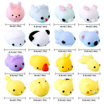 12 Pieces Mochi Squishy Prefilled Squishies Mini Toys Easter Eggs