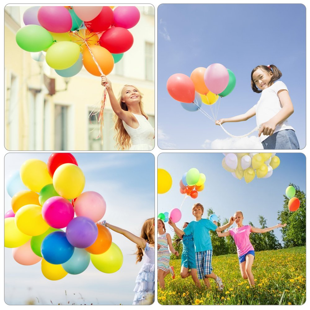 BESTTY Latex Balloon 12 Inch 100Pcs Party Balloon Assorted Colors (10 Colors, Random,100PCS)