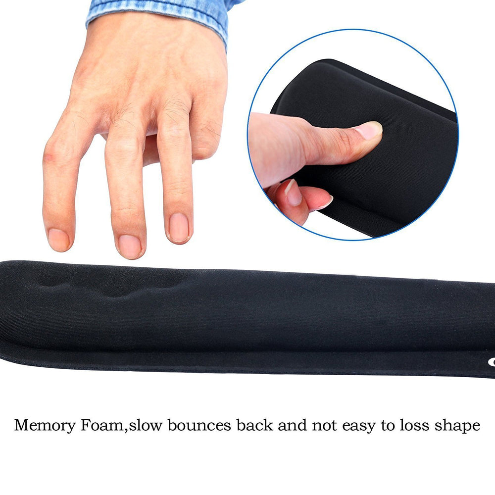 Mouse Cushion with Keyboard Wrist Rest Pad Mouse Wrist Support Memory Foam, GIM Ergonomic Wrist Cushion Support for Office, Gaming, Computer, Laptop and Mac