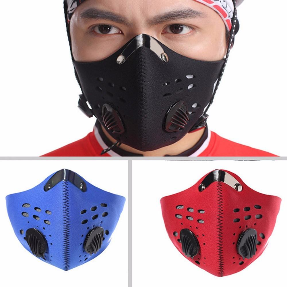 PM2.5 Haze Dust Motorcycle Cycling Bike Half Face Filter Mask Topeng
